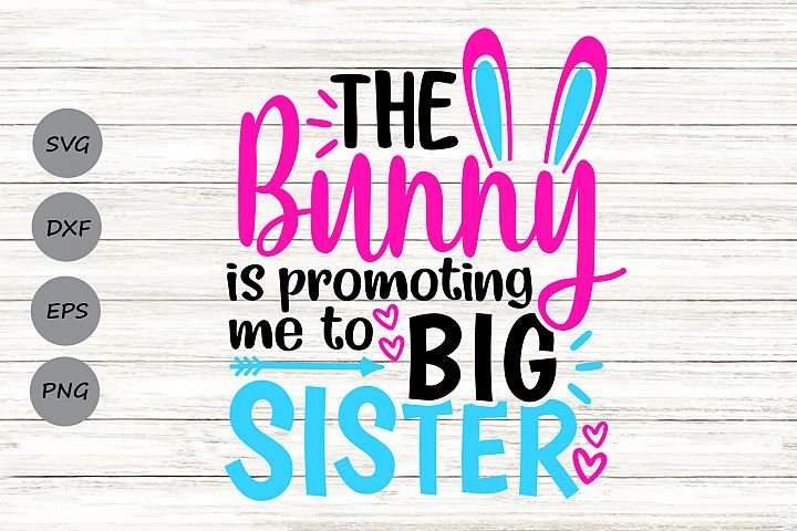 The Bunny Is Promoting Me To Big Sister Svg, Easter Svg.