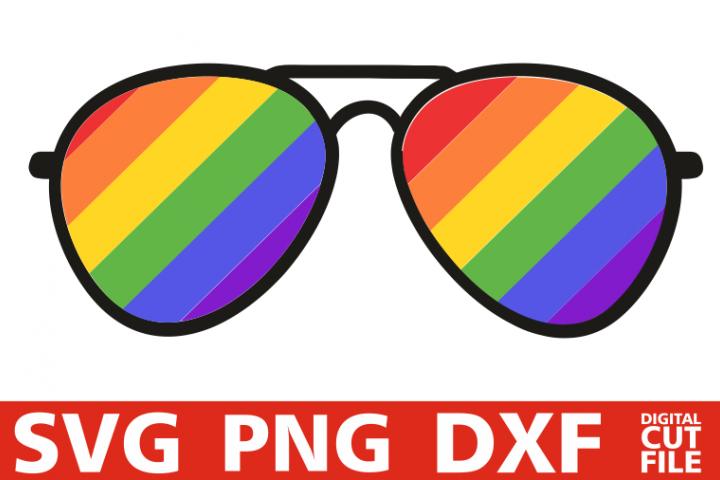 LGBT glasses svg, Human svg, Gay Pridesvg, Rainbow Flag