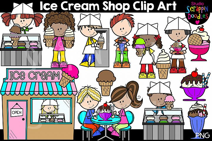 Ice Cream shop Clip Art