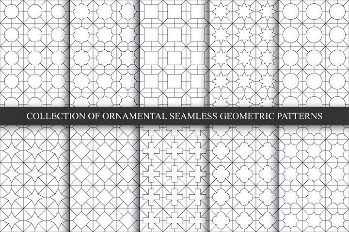 Oriental seamless geometric patterns