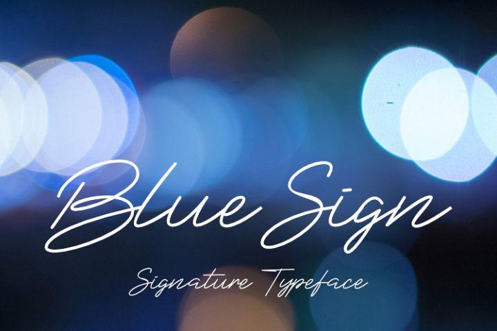 BlueSign Typeface