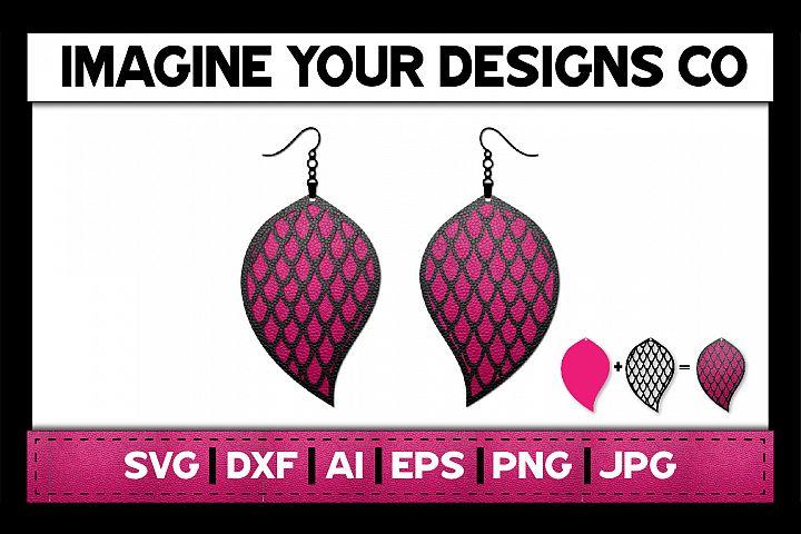 Stacked Mermaid Earrings - SVG Cut File Template