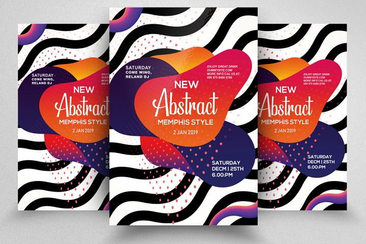 Abstract Gradiant Flyer Template