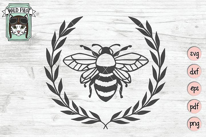 Bee svg file, Bee Wreath svg, Honey bee cut file, Bee happy