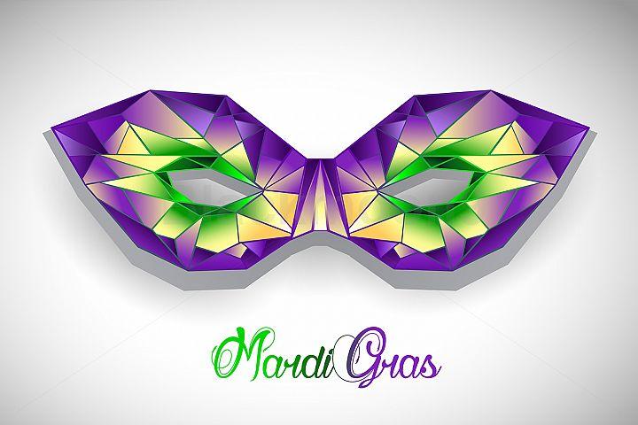 Polygonal Mask Mardi Gras