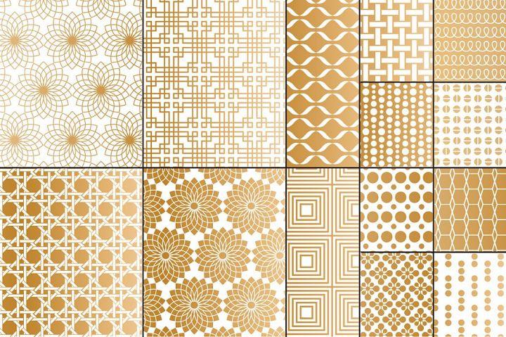 Copper Geometric Patterns
