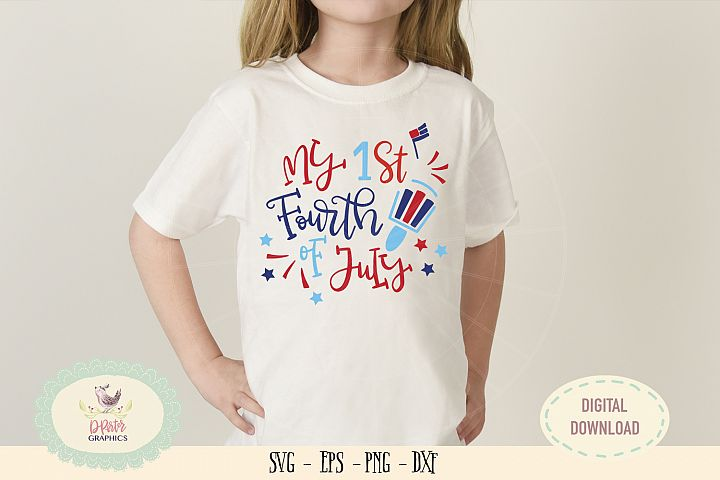 My 1st fourth of July SVG cut file American flag