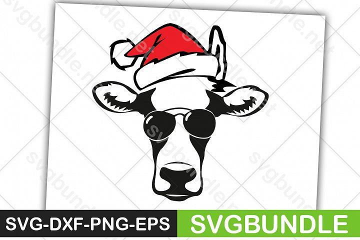 Christmas SVG|Cow Face SVG|Farm SVG