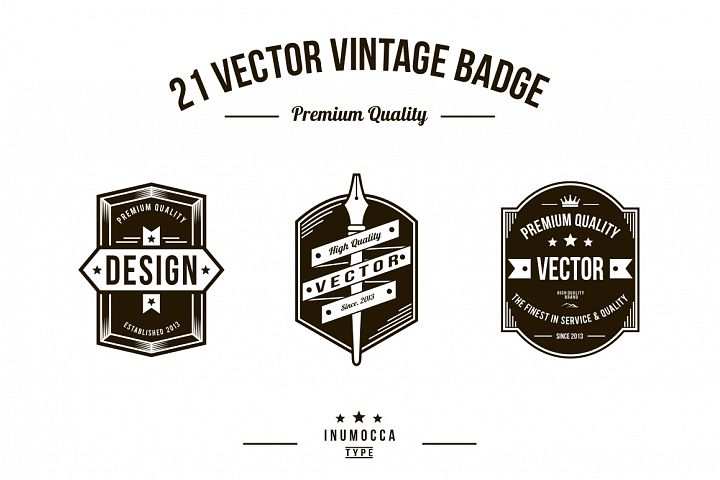21 Vintage Badges (CLEAR & CRACK)