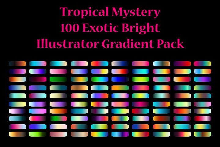 100 Exotic Bright Gradients for Adobe Illustrator
