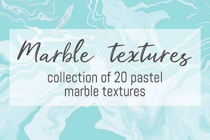 Pastel marble textures bundle