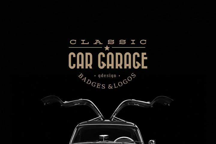 Classic Car Garage Badges & Logos