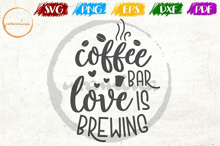 Coffee Bar Kitchen SVG PDF PNG
