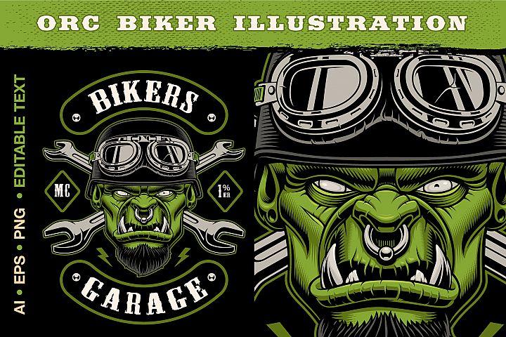 Orc Biker Character