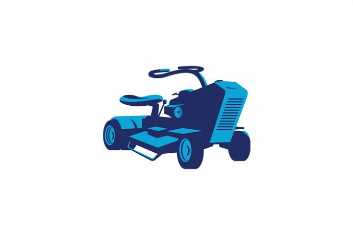 vintage ride on lawn mower retro