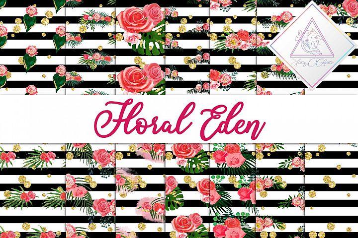 Floral Eden Digital Paper