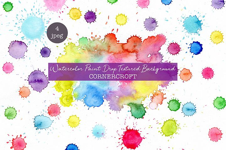 Watercolor paint drops background