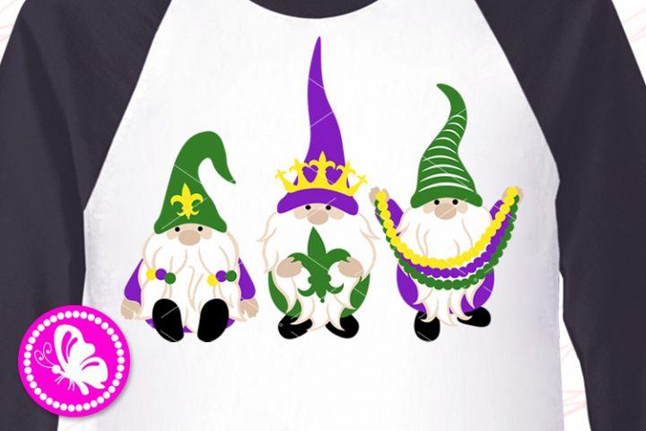 Mardi Gras decor Gnomes Beads Fleur de Lis Svg Louisiana