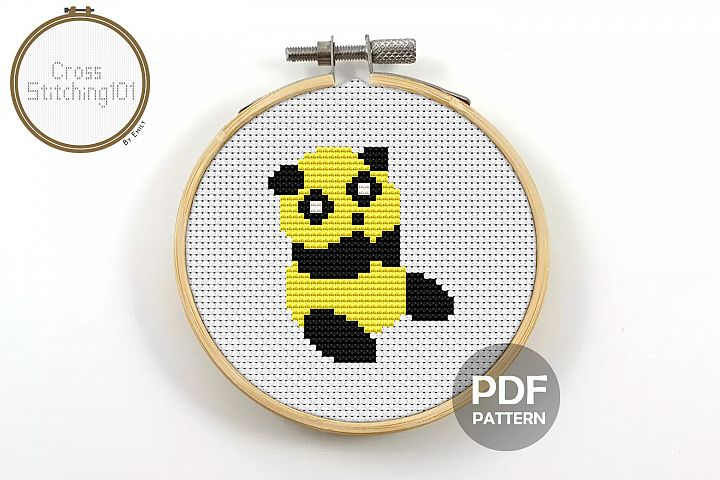 Panda Cross Stitch Pattern - Instant Download PDF