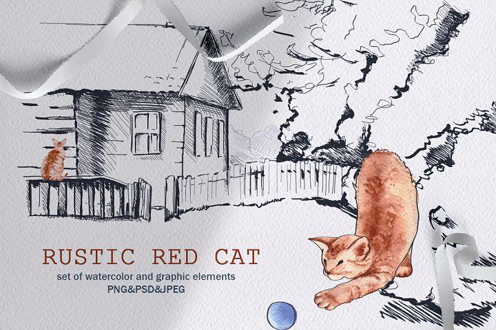 rustic red cat
