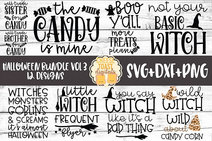 Halloween Bundle Vol 3 - Fall SVG PNG DXF Cut Files