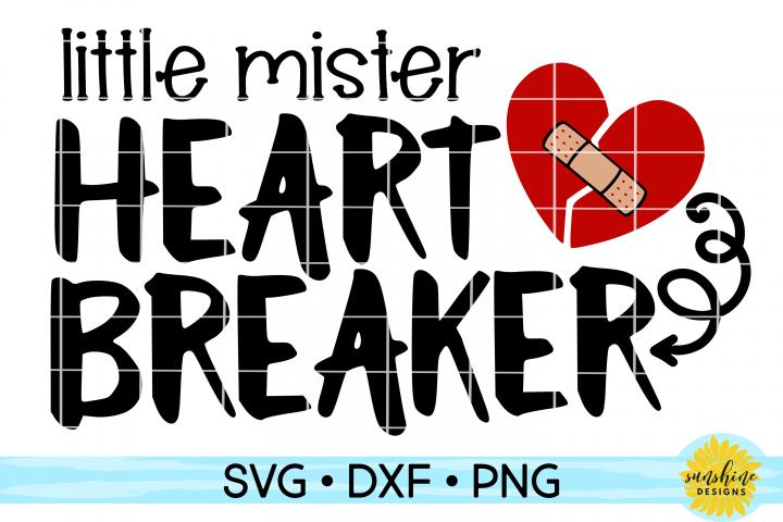 Little Mister Heart Breaker  Valentines Day SVG DXF PNG