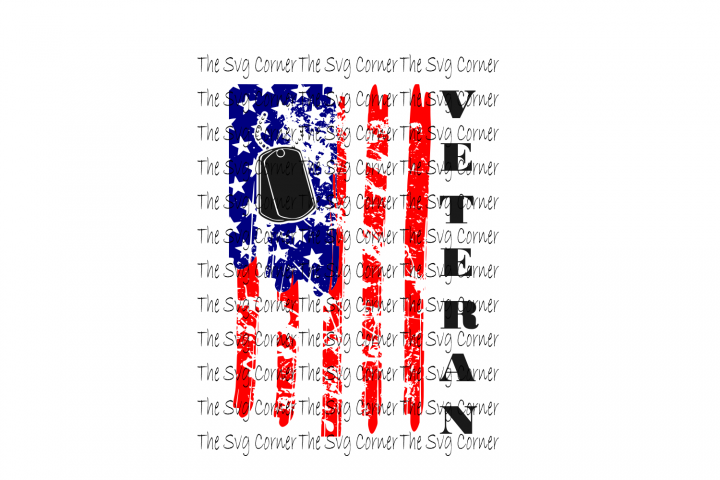 American Flag Veteran SVG File