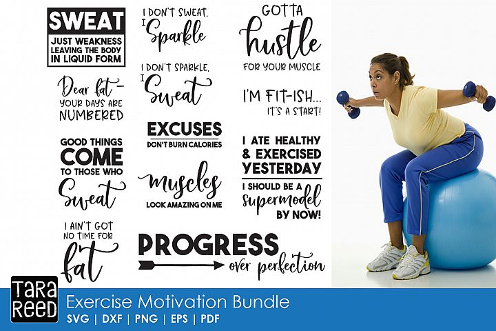 Exercise Motivation - Fitness SVG and Cut Files for Crafter