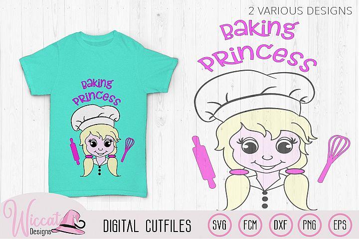 Baking girl, Baking princess, cooking svg,