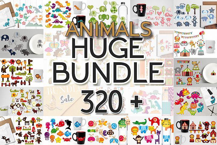 Animals Clip Art Illustrations Huge Bundle