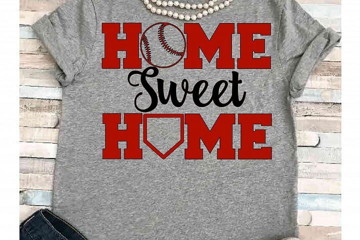 Baseball svg SVG DXF JPEG Silhouette Cameo Cricut Baseball mom svg iron on Home sweet home svg