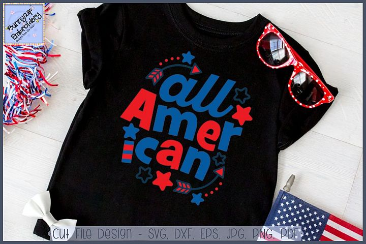 All American SVG Cut File and Clipart
