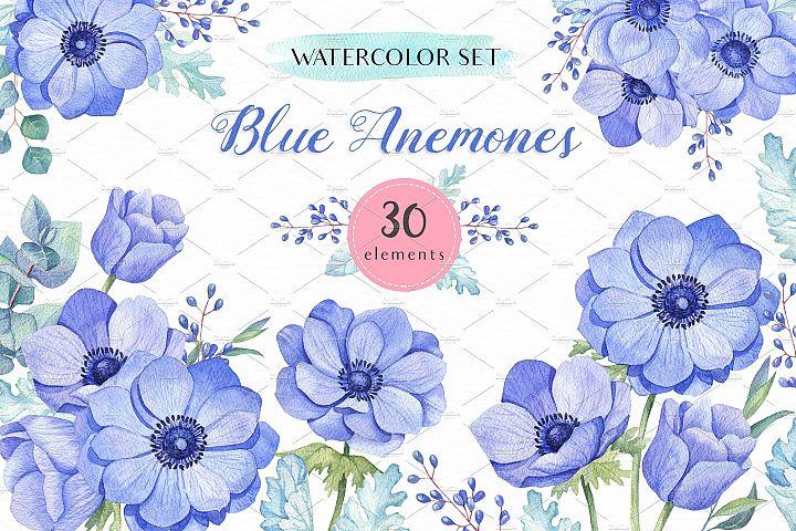 -40% OFF - Blue Anemones