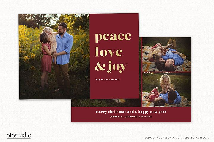 Christmas Card Template for Photographers CC197