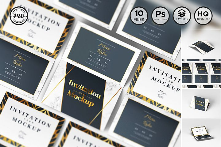 Invitation Card Mockups V1