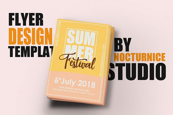 Summer Festival Flyer Template PSD