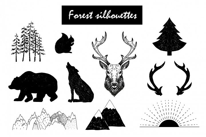 Wild Forest graphic pack - Free Design of The Week Design 1