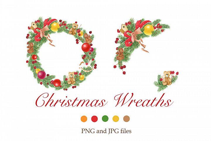 Christmas wreaths clip art #2