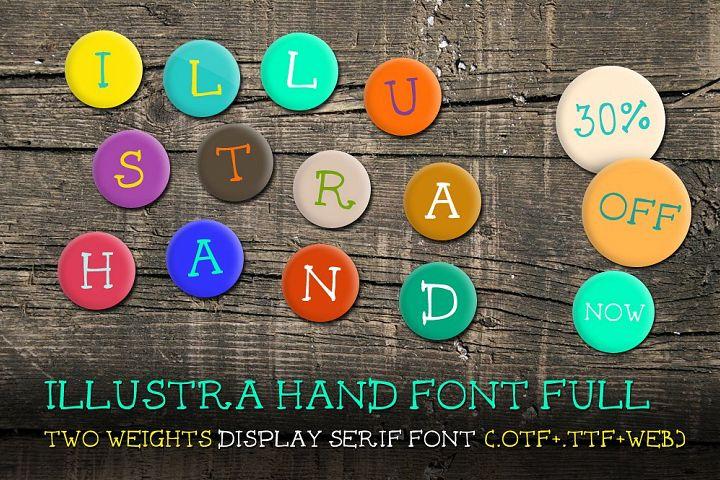 Illustra Hand Font [30% off]