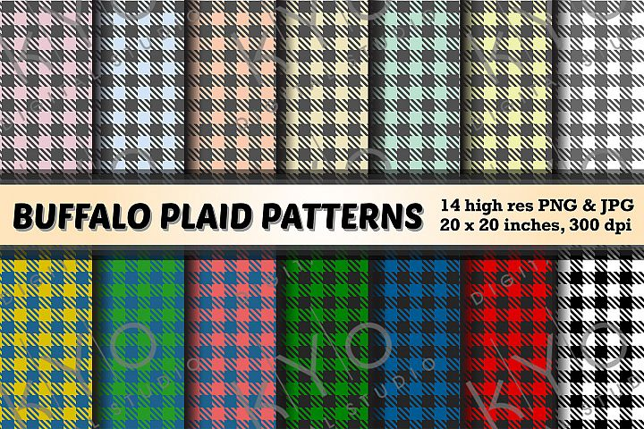 Buffalo Plaid Printable Patterns png jpg files