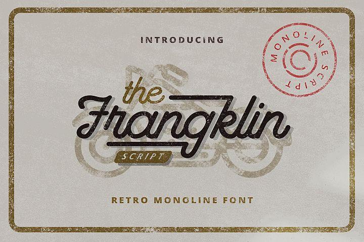 Franklin - Monoline Retro Script Font