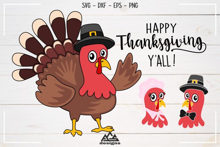 Turkey Thanksgiving Svg Design