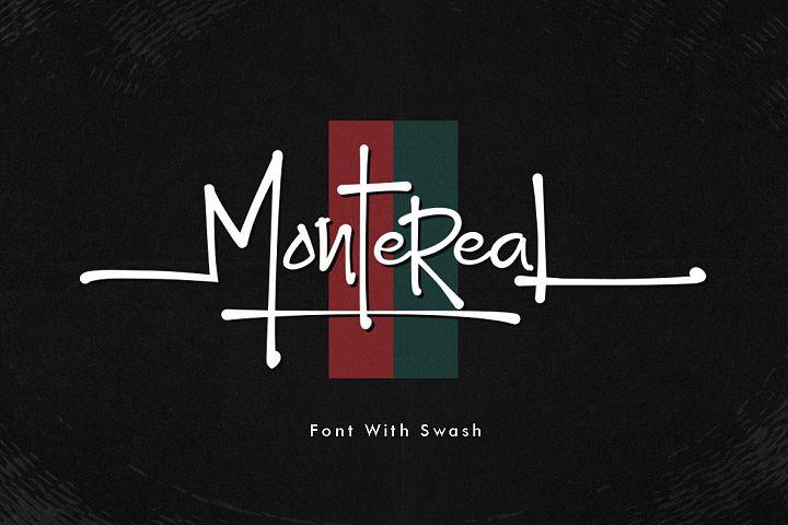 Montereal Handwriting Font