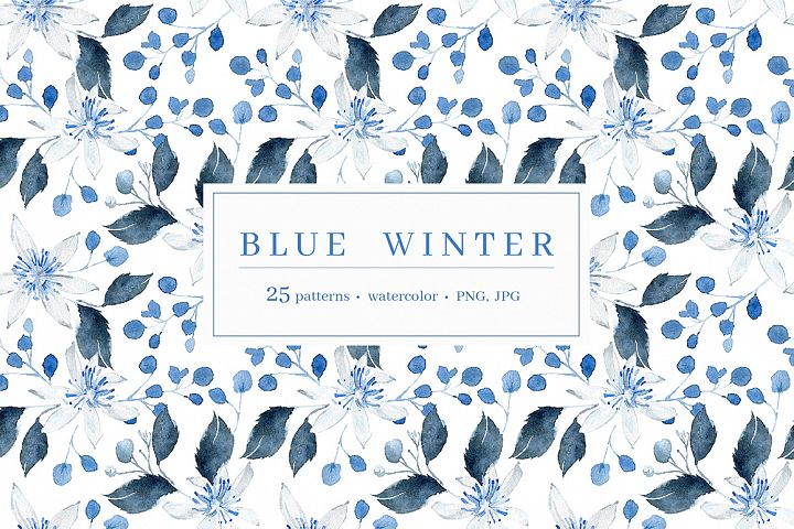 Blue Winter pattern collection