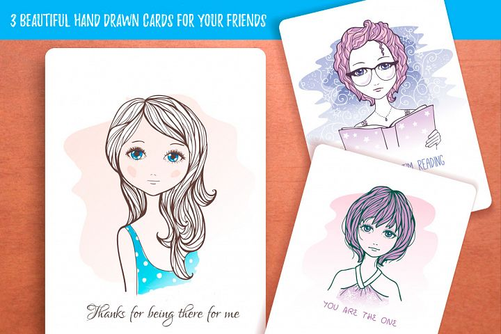 Hand Drawn Greetings Cards