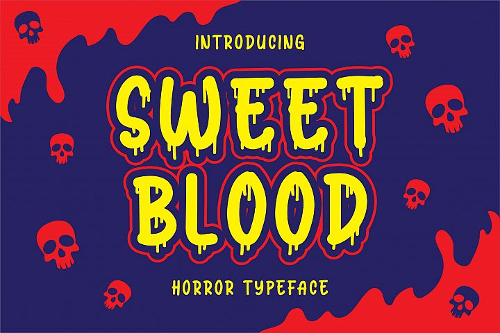 Sweet Blood - Horror Typeface