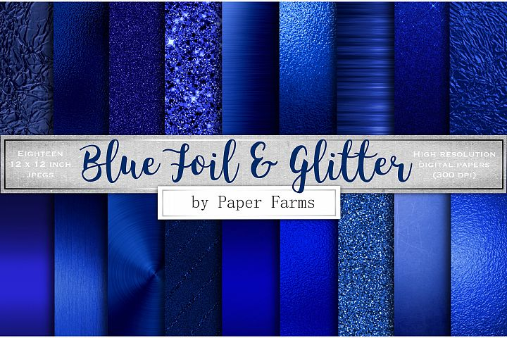 Blue foil glitter textures
