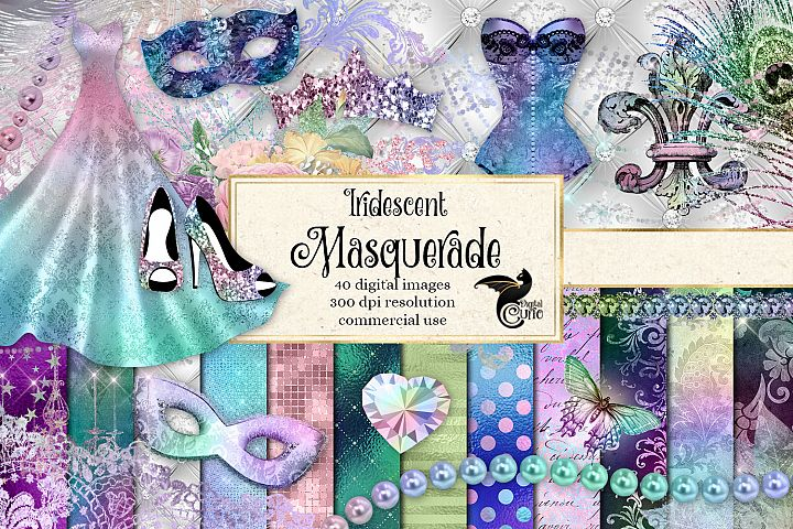 Iridescent Masquerade Digital Scrapbooking Kit