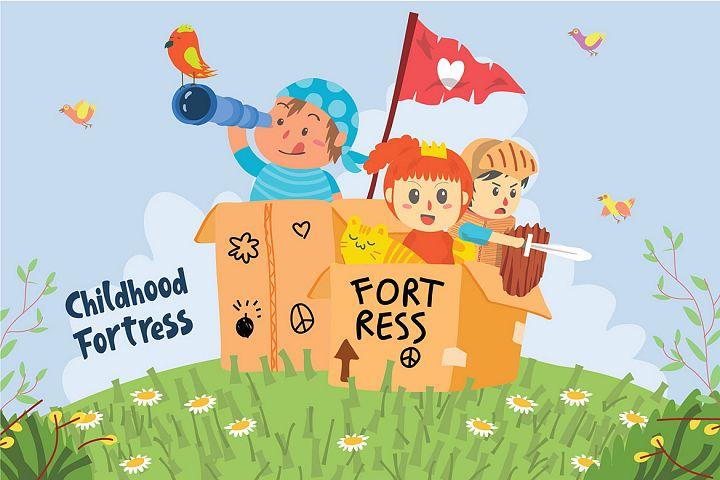 Childhood Fortress - Vector Illustration
