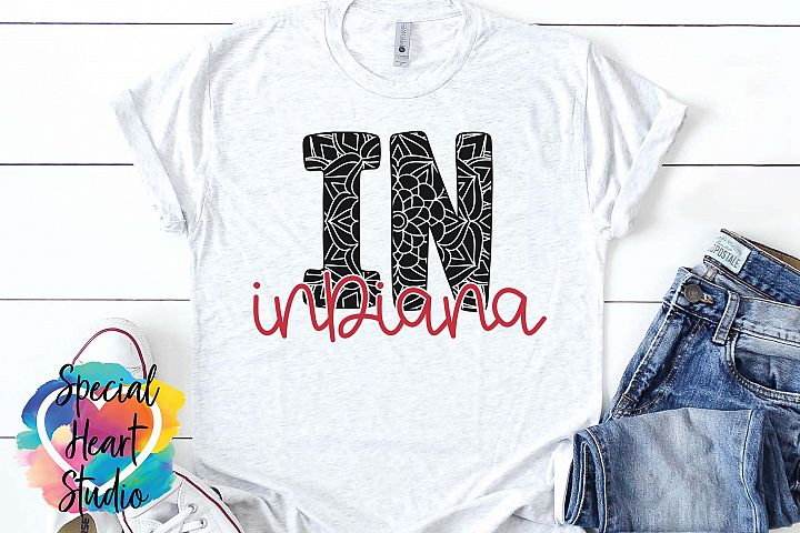 Indiana Mandala - A State SVG Cut File